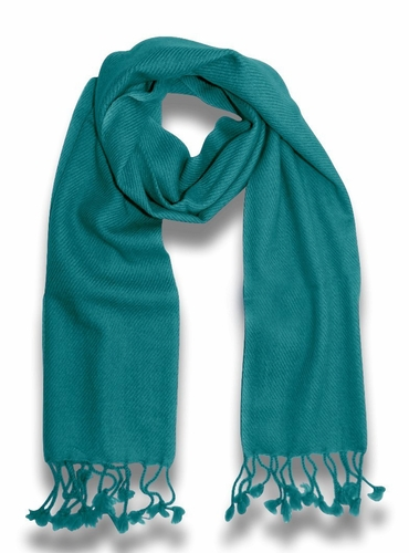 Classic Solid 100% Cashmere Scarf (Turquoise)