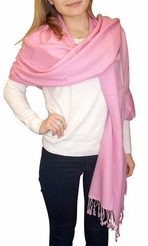 Ultra-Soft 100% Cashmere Wrap (Baby Pink)