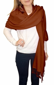 Ultra-Soft 100% Cashmere Wrap  (Chocolate Brown)