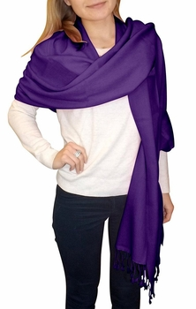 Ultra Soft 100% Cashmere Wrap (Purple)