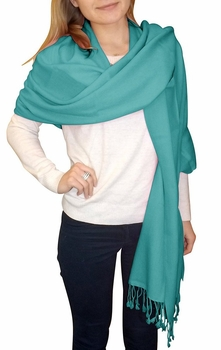 Ultra-Soft 100% Cashmere Wrap  (Turquoise)
