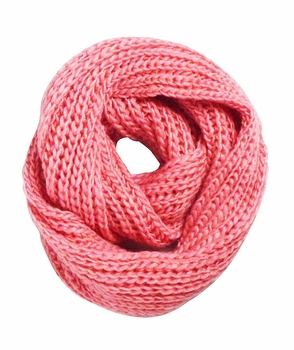 Chunky Warm Hand Knitted Infinity Large Loop Scarf (Rose Pink)