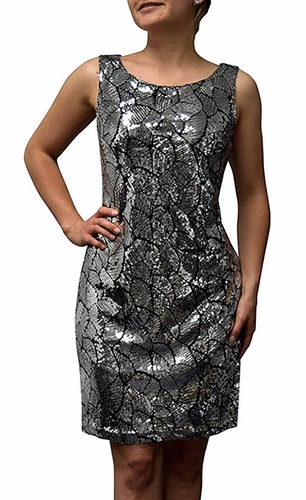 Glamorous Sparkling Cocktail Dress (Leaf)