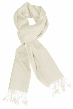 Gorgeous Warm Cashmere & Silk Scarf (Off White)