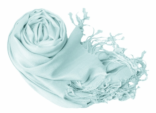 Luxurious Eco-friendly Pashmina Shawl (Baby Blue)