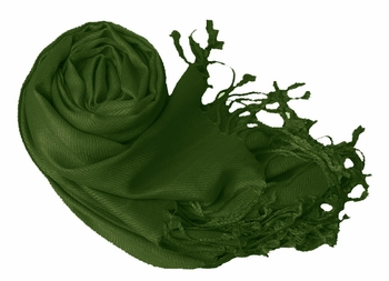Luxurious Eco-friendly Pashmina Shawl (Forest Green)
