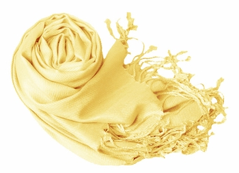 Luxurious Eco-friendly Pashmina Shawl (Light Yellow)