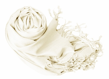 Luxurious Eco-friendly Pashmina Shawl (Off White)