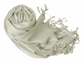 Luxurious Eco-friendly Pashmina Shawl (Silver)