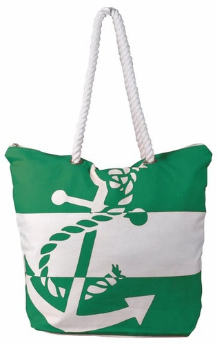 Premium Cotton Canvas Beach Handbags Nautical Large Anchor Design