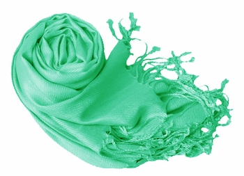 Luxurious Eco-friendly Pashmina Shawl (Mint Green)