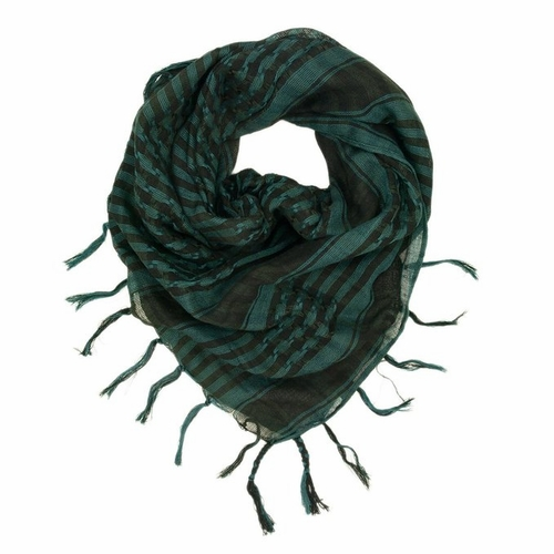 Very Soft Unisex Shemagh Houndstooth Scarf (Green/Black)