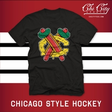 """Chicago Style Hockey"" T-shirt"