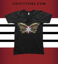 """Fearless Feathers"" Ladies -V- Neck T-shirt"