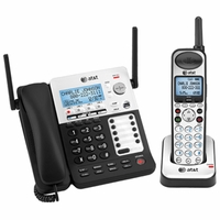 AT&T SB67138 DECT 6.0 4-Line Corded/Cordless Phone System New