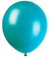 "Aquamarine 12"" Latex Balloons 10 Count"