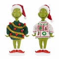 Dept 56 Grinch Village The Grinch Ugly Sweater Figurine Set of 2