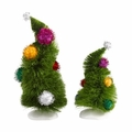 Dept 56 Grinch Village Wonky Trees Set of 2