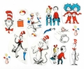 Dr. Seuss Cat In The Hat Characters 2-Sided Decoration Kit