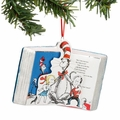 Dr. Seuss Cat in the Hat Glass and Paper Book Ornament