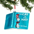 Dr. Seuss Cat in the Hat Glass Book Ornament
