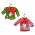 Dr. Seuss Cindy Face Sweater Ornament Set of 2