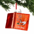 Dr. Seuss Green Eggs and Ham Glass Book Ornament
