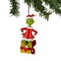 Dr. Seuss Grinch on Gift Lit Ornament