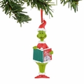 Dr. Seuss Grinch Reading Ornament