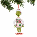 Dr. Seuss Grinch White and Red Sweater Ornament