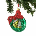 Dr. Seuss Grinch Wreath Glass Ornament