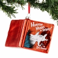Dr. Seuss Horton Hears a Who Glass Book Ornament