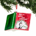 Dr. Seuss How the Grinch Stole Christmas Glass Book Ornament
