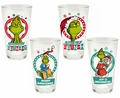 Dr. Seuss Merry Grinchmas 16 oz. 4 Piece Glass Set