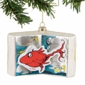 Dr. Seuss One Fish, Two Fish, Red Fish, Blue Fish Glass Book Ornament