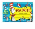 Dr. Seuss You are a Star Red Reward Certificates 6 Pack