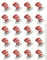 Dr. Seuss The Cat's Hat Theme Stickers 120 Pack