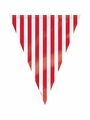 Ruby Red Decorative Stripes 12' Flag Banner