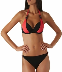 Aubade Swimwear Plunge Padded Top & Reversible Bottoms.