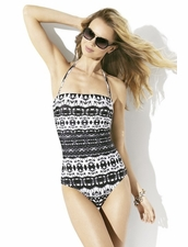Badgley Mischka Maya Straples One Piece Swimsuit