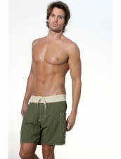 Banded Pocket Short in Olive/Natural by Sauvage
