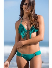 Boys+Arrows Blythe the Babe Top and Carm the Conwoman Bottom Bikini in Emerald