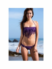 Boys+Arrows Henrietta the Hippie Top and Liza the Lunatic Bottom Bikini in Purple