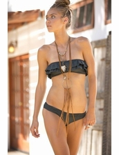 Boys+Arrows Thelma the Thug Top and Sammy the Sailor Bottom Bikini in Charcoal