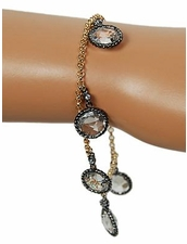 Chain Wrapped CZ Bracelet in Clear by Funky Junque at Pesca Trend