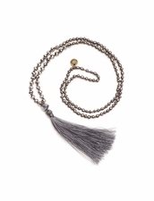 Cocobelle Crystal Brushed Silver Necklace