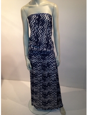 Cool-Change Bloussant Dress Monaco in Indigo/White