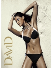 DAVID Swimwear 3401 CF Push-up Padded Black Two Piece Swimsuit