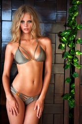 Sauvage Swimwear  Diva with Gold Accents Bikini