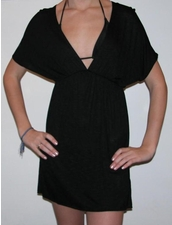 Elan Beachwear V-Neck Tunic in Black